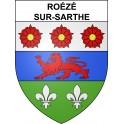 Roézé-sur-Sarthe Sticker wappen, gelsenkirchen, augsburg, klebender aufkleber