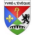 Pegatinas escudo de armas de Yvré-l'Évêque adhesivo de la etiqueta engomada