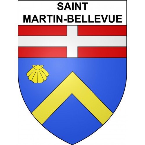 Stickers coat of arms Saint-Martin-Bellevue adhesive sticker