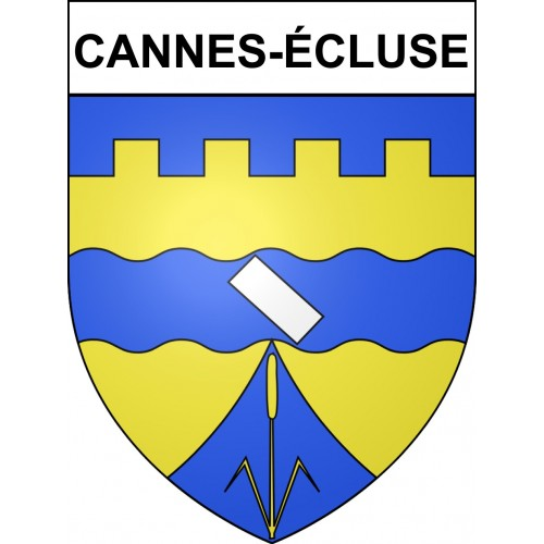 Stickers coat of arms Cannes-écluse adhesive sticker