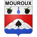 Stickers coat of arms Mouroux adhesive sticker