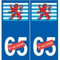 Luxembourg sticker blason autocollant plaque
