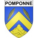Stickers coat of arms Pomponne adhesive sticker