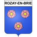 Stickers coat of arms Rozay-en-Brie adhesive sticker