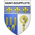 Stickers coat of arms Saint-Soupplets adhesive sticker