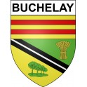 Buchelay 78 ville sticker blason écusson autocollant adhésif