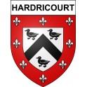 Stickers coat of arms Hardricourt adhesive sticker