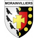 Stickers coat of arms Morainvilliers adhesive sticker