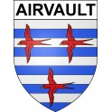 Stickers coat of arms Airvault adhesive sticker