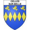 Stickers coat of arms Celles-sur-Belle adhesive sticker