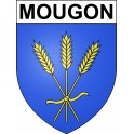Stickers coat of arms Mougon adhesive sticker