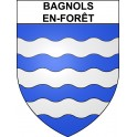 Stickers coat of arms Bagnols-en-Forêt adhesive sticker