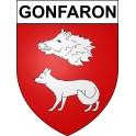 Stickers coat of arms Gonfaron adhesive sticker