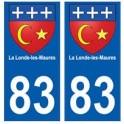83 La Londe-les-Maures autocollant plaque immatriculation ville
