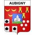 Stickers coat of arms Aubigny adhesive sticker