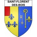 Stickers coat of arms Saint-Florent-des-Bois adhesive sticker