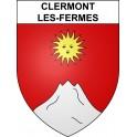 Clermont-les-Fermes 02 ville sticker blason écusson autocollant adhésif