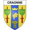 Stickers coat of arms Craonne adhesive sticker