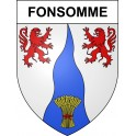 Stickers coat of arms Fonsomme adhesive sticker
