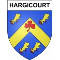 Stickers coat of arms Hargicourt adhesive sticker