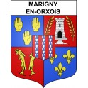 Stickers coat of arms Marigny-en-Orxois adhesive sticker