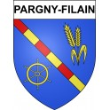 Pargny-Filain Sticker wappen, gelsenkirchen, augsburg, klebender aufkleber