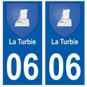 06-The Turbie coat of arms sticker plate city
