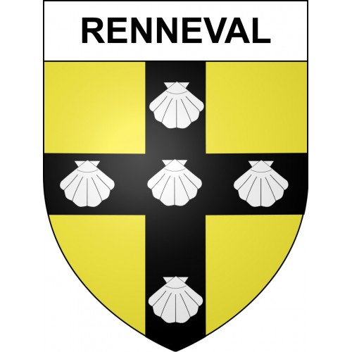 Stickers coat of arms Renneval adhesive sticker