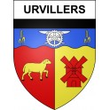 Stickers coat of arms Urvillers adhesive sticker