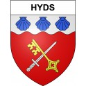 Stickers coat of arms Hyds adhesive sticker