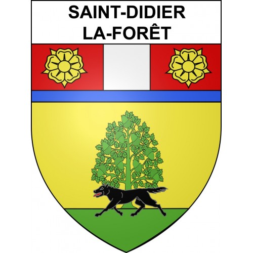 Stickers coat of arms Saint-Didier-la-Forêt adhesive sticker
