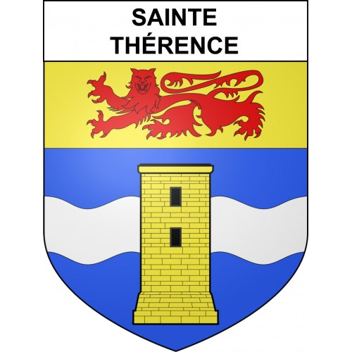 Stickers coat of arms Sainte-Thérence adhesive sticker
