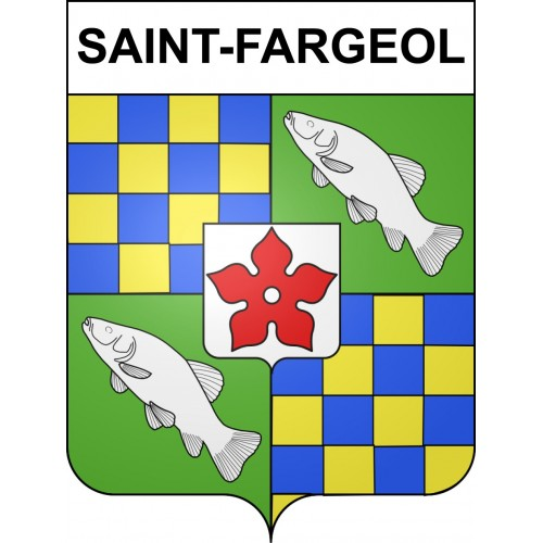 Stickers coat of arms Saint-Fargeol adhesive sticker