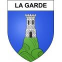 La Garde 04 ville sticker blason écusson autocollant adhésif