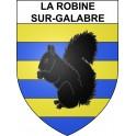 La Robine-sur-Galabre 04 ville sticker blason écusson autocollant adhésif