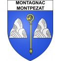 Stickers coat of arms Montagnac-Montpezat adhesive sticker