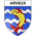 Pegatinas escudo de armas de Arvieux adhesivo de la etiqueta engomada