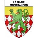 Stickers coat of arms La Bâtie-Montsaléon adhesive sticker