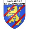 Stickers coat of arms La Chapelle-en-Valgaudemar adhesive sticker