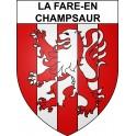 Stickers coat of arms La Fare-en-Champsaur adhesive sticker