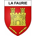 Stickers coat of arms La Faurie adhesive sticker