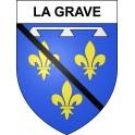 Stickers coat of arms La Grave adhesive sticker