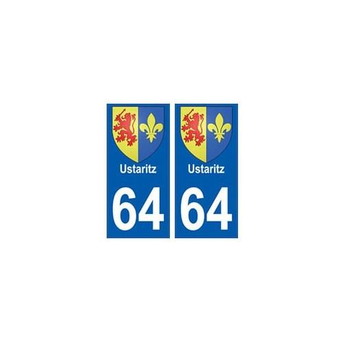 64 Ustaritz autocollant plaque immatriculation ville