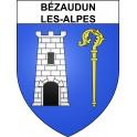 Stickers coat of arms Bézaudun-les-Alpes adhesive sticker