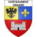 Châteauneuf-Grasse 06 ville sticker blason écusson autocollant adhésif
