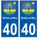 40 Moliers-et-Maa autocollant plaque blason armoiries stickers département ville