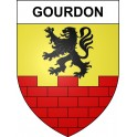 Stickers coat of arms Gourdon adhesive sticker
