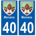 40 Morcenx autocollant plaque blason armoiries stickers département ville