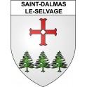 Pegatinas escudo de armas de Saint-Dalmas-le-Selvage adhesivo de la etiqueta engomada