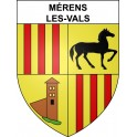 Mérens-les-Vals 09 ville sticker blason écusson autocollant adhésif